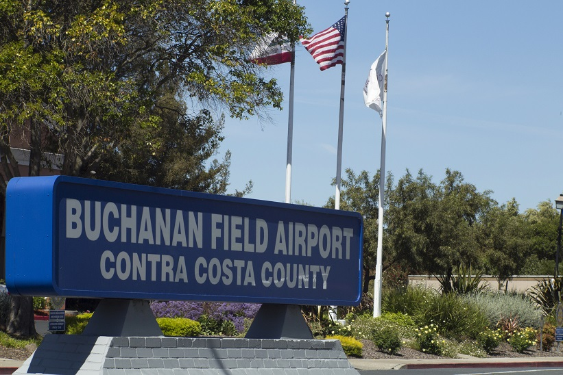 Buchanan Field Airport Contra Costa County Sign