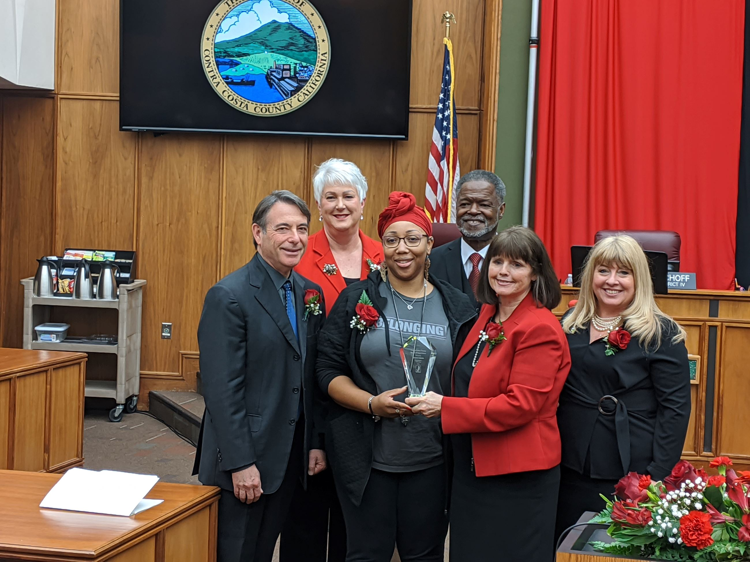Tamisha Walker honored by Board of Supervisors
