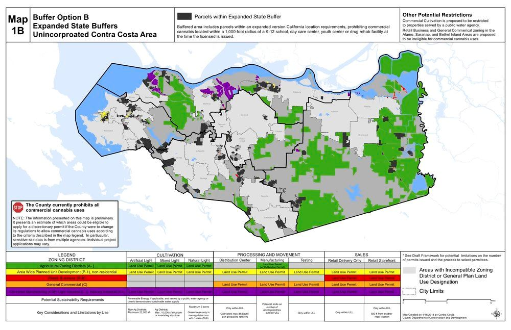 Conta County Cannabis Map
