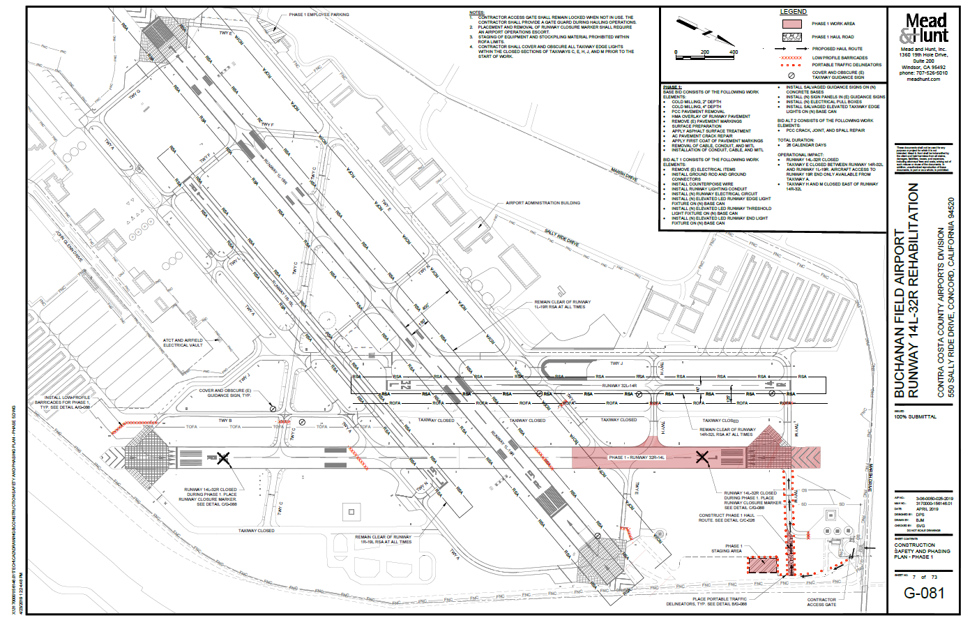 Runway 14L-32R Rehabilitation Project Phase 1